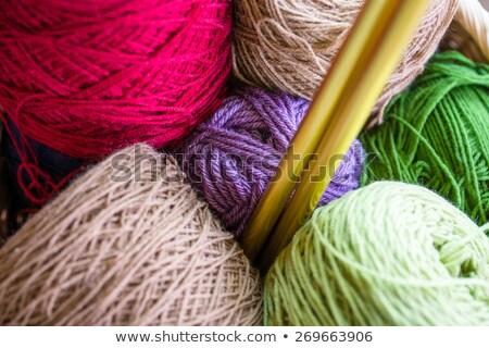 Skein of gold wool knitting yarn Stock photo © Balefire9