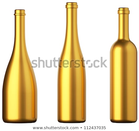 Alcohol Cognac In A Closed Bottle On White Background Stok fotoğraf © Arsgera