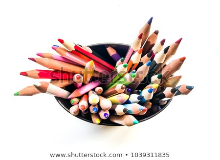 Stock photo: Coloured Pencils in a Pot