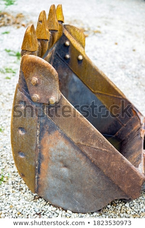resting quarry digger and stones Stock photo © prill