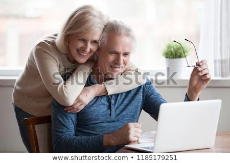Casal computador internet homem olhos Foto stock © photography33