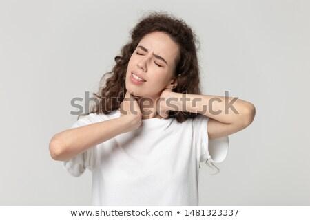 mulher · dor · no · ombro · branco · menina · corpo - foto stock © photography33