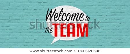 üdvözlet csapat üzletember befejezés multimédia elemek Stock fotó © silent47