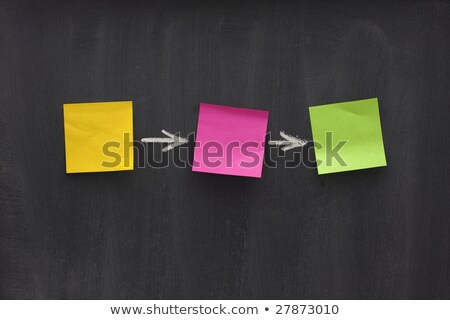 Blank diagram with arrows on a smudged blackboard Stock photo © bbbar