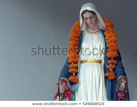 Küçük İsa heykel küçük kilise Stok fotoğraf © Bumerizz