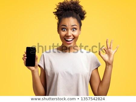 девушки студент жест вызывать счастливая девушка книга Сток-фото © natalinka