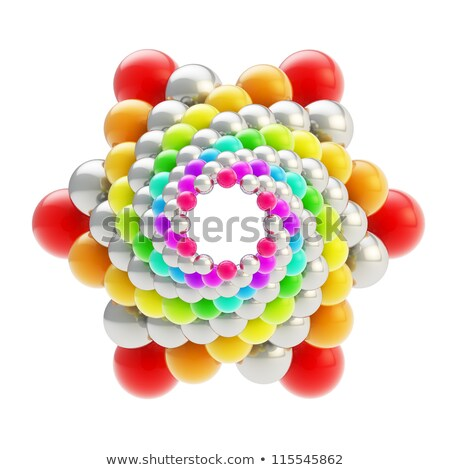 Sphere made of color stars. Stock photo © Sylverarts