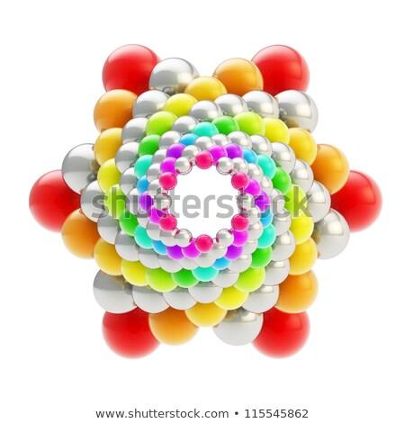 сфере цвета звезды изолированный белый 3d иллюстрации Сток-фото © Sylverarts
