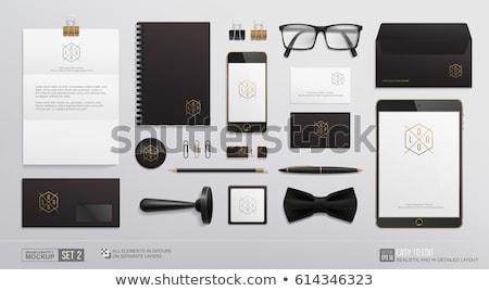 Stift Büro Papier Industrie Umschlag weiß Stock foto © ukrainec
