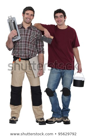 Stock photo: duo of tilers