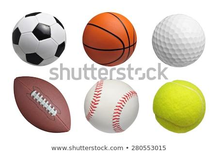 esportes · isolado · branco · tênis · bola - foto stock © inxti