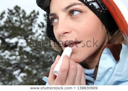 Skiër lip balsem zon natuur Stockfoto © photography33