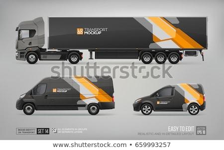 компания грузовика дизайна икона черный аннотация Сток-фото © robertosch