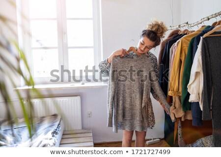 Girl getting dressed Stock photo © ziprashantzi