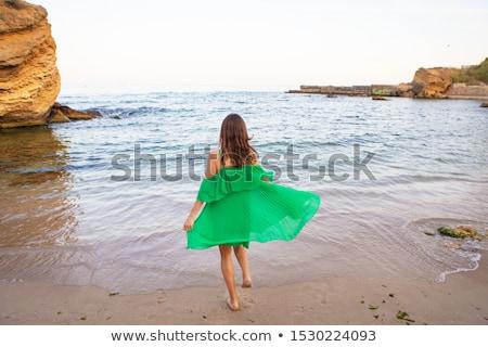 green scarf stock photo © ruzanna