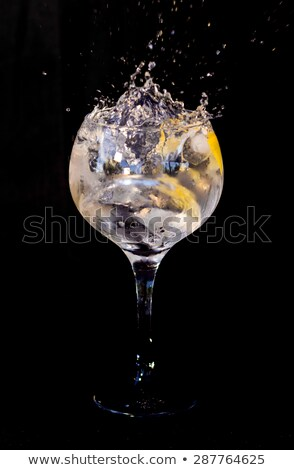 черный · коктейль · стекла · изолированный · белый · вечеринка - Сток-фото © wavebreak_media