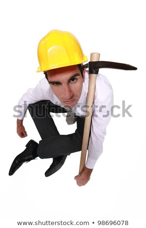 Grumpy businessman with a pickaxe Stock photo © photography33