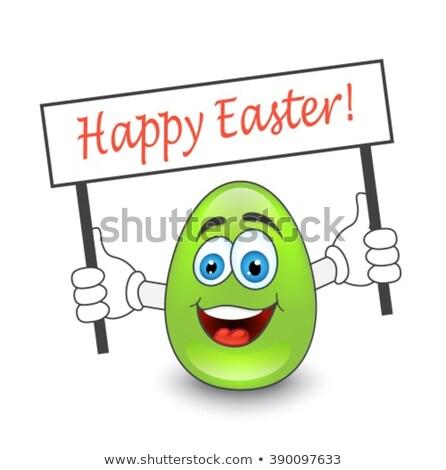 Homme œufs de Pâques pouce barbe Pâques Photo stock © Pasiphae