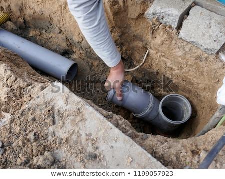 Plumbers install drainage Stock photo © photography33