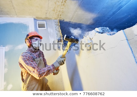 Worker with a sledgehammer Stock photo © photography33