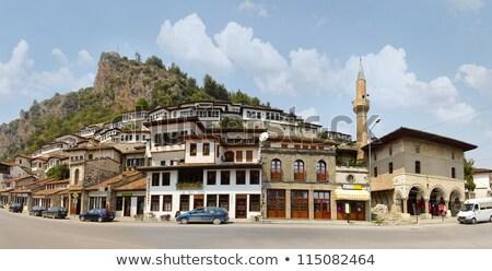 Barrio antiguo Albania histórico edificios casas Europa Foto stock © travelphotography