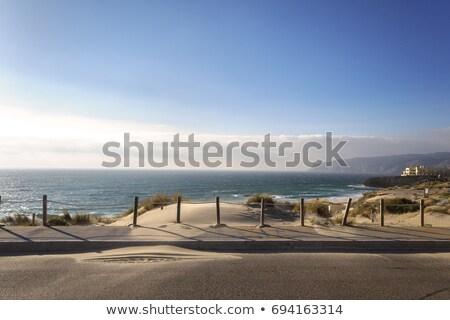 plaj · okyanus · fırtınalı · hava · durumu · Lizbon · Portekiz - stok fotoğraf © anshar