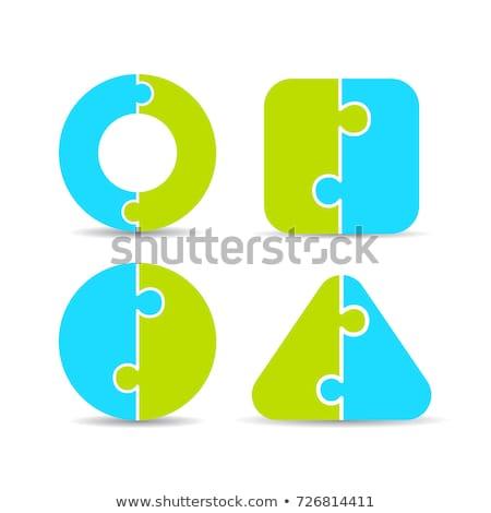 Stock photo: Logo puzzle 2