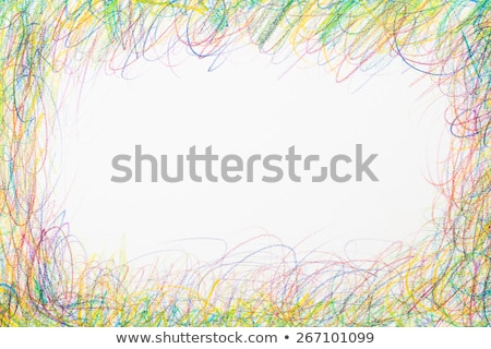 Színes ceruzák káosz keret fehér átlátszó Stock fotó © make
