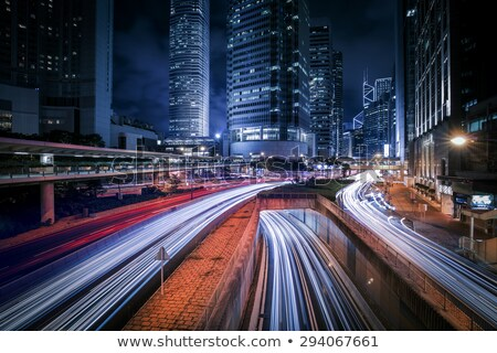 Verkeer Hong Kong nacht hdr afbeelding auto Stockfoto © kawing921