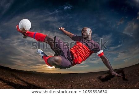 futball · zászló · Zambia · izolált · fehér · sport - stock fotó © sahua
