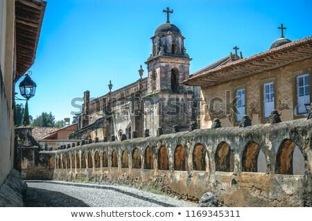 katolikus · templom · feszület · torony · épület · város - stock fotó © rhamm
