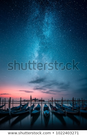 Gondole nuit canal Rhode Island eau maison Photo stock © ArenaCreative