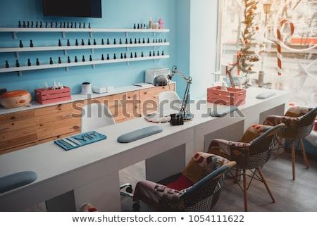 Unha polonês salão interior cadeira secretária cosméticos Foto stock © zzve