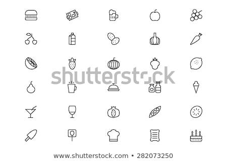 Ikon patates ketçap gıda Stok fotoğraf © zzve
