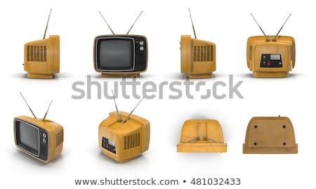Televisão ângulo preto moderno tela plana Foto stock © nicemonkey