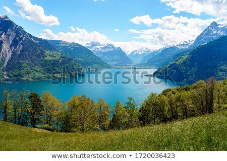 alpes · Suisse · ciel · nuages · bâtiment · montagnes - photo stock © janhetman