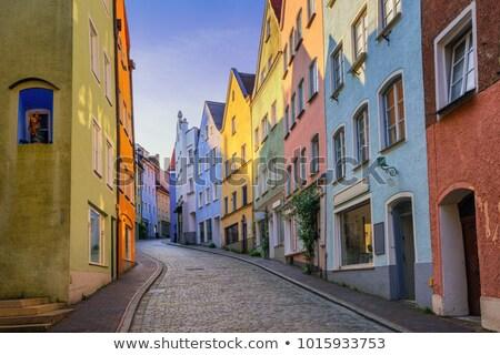 narrow street landsberg stock photo © w20er