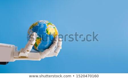 künstliche · Erde · Europa · weiß · blau - stock foto © kirill_m