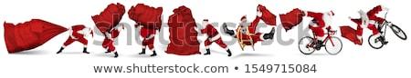 サンタクロース 巨人 フル 贈り物 ストックフォト © ori-artiste