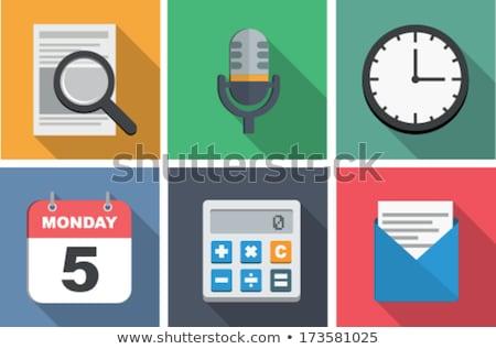 Desktop Calendar with Microphone Icon. Stock photo © tashatuvango