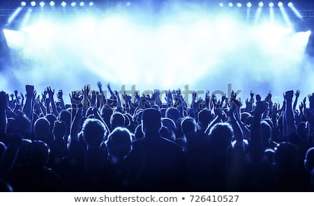 Koncert közönség tömeg sziluett vektor Stock fotó © derocz
