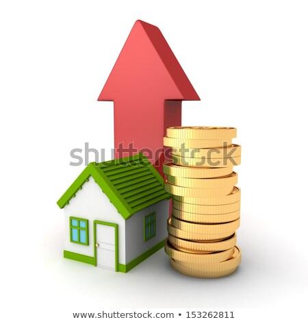 графа · недвижимости · цены · роста · линия · икона - Сток-фото © burakowski