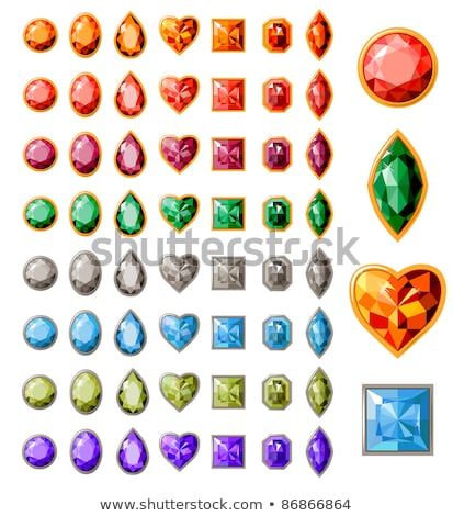 heart symbol with ruby gems Stock photo © dengess