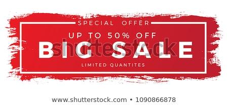 Kiárusítás piros pecsét fehér vásárlás bolt Stock fotó © chrisdorney