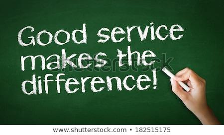 Jó szolgáltatás különbség kréta illusztráció személy Stock fotó © kbuntu