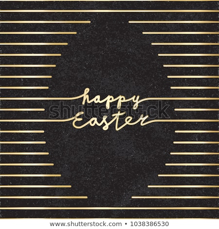 easter greeting card in vintage style vector illustration stock photo © carodi