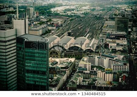 Centrale stazione Francoforte sul Meno principale grattacieli Foto d'archivio © meinzahn