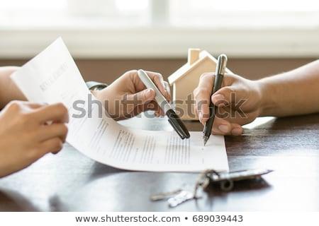Hypothèque accord boussole Photo stock © devon