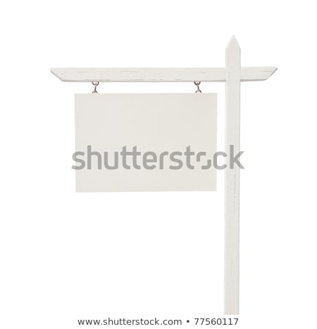 Stockfoto: Blank Real Estate Sign On White With Clipping Path