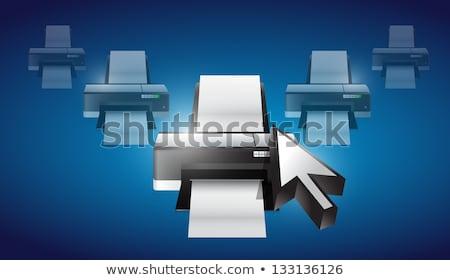 принтер курсор иллюстрация дизайна графических металл Сток-фото © alexmillos